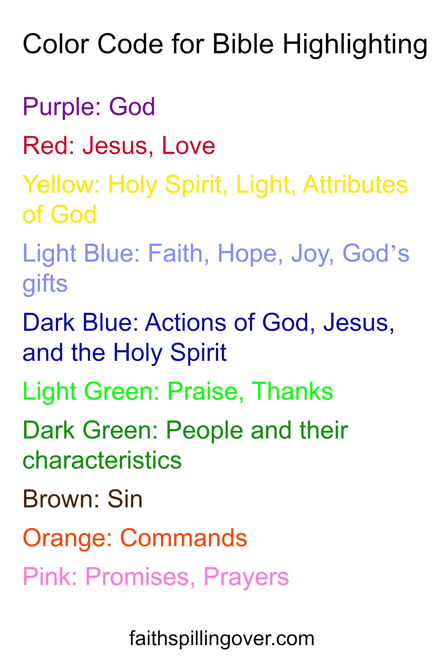 What colors mean in the bible what do the rainbow colors mean in how to wake up to the wonder of the bible faith spilling over rh faithspillingover com what do colors mean in the bible rainbow colors meaning biocorpaavc
