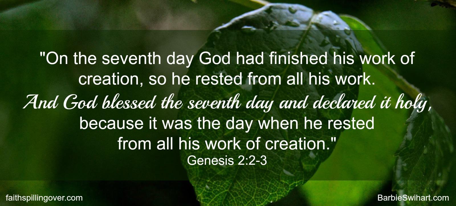 sabbath scripture Genesis