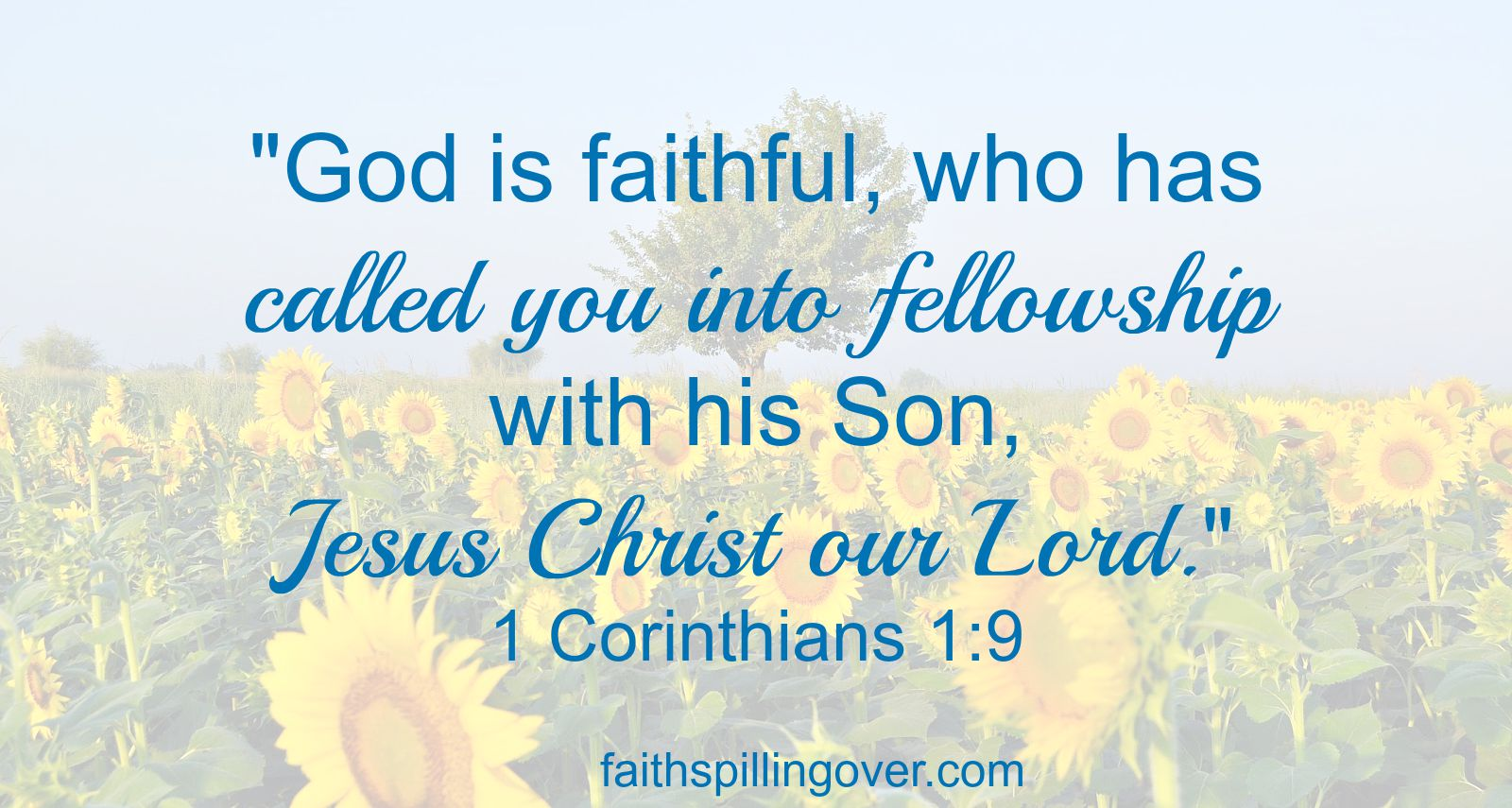 1 Corinthians 1 9 fellowship scripture
