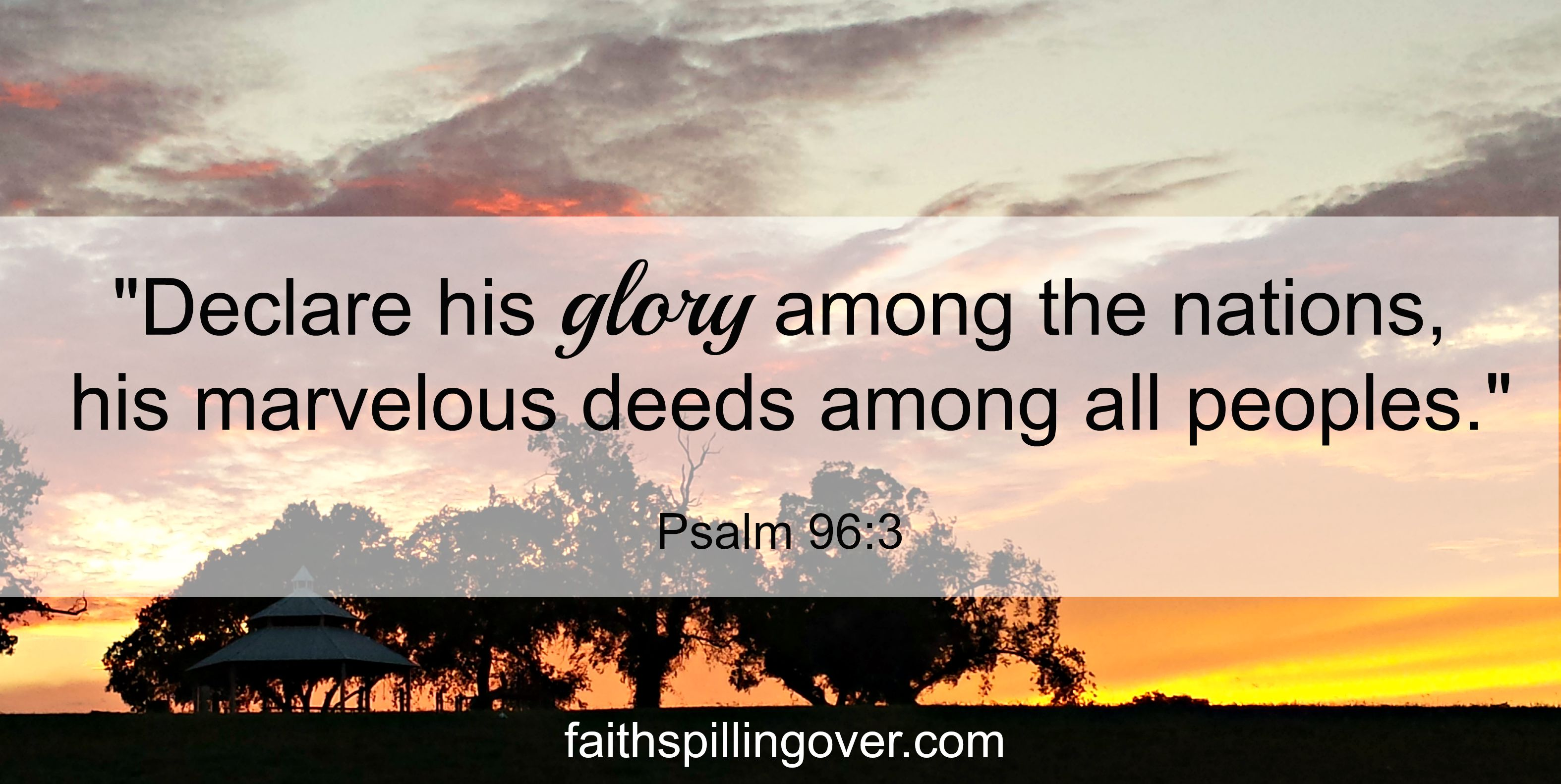 Declare His Glory Scripture