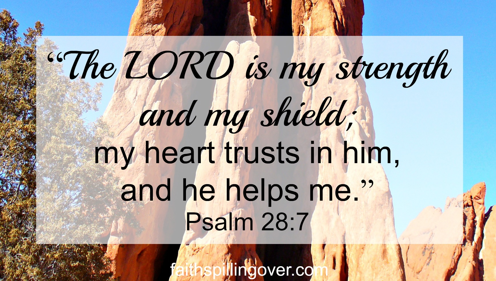 The Lord is my strength text