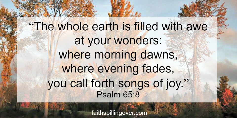 where morning fades scripture