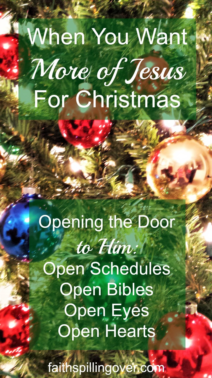 Let's make advent a special time open our doors to Jesus and welcome him into our hearts, our homes, and our work.