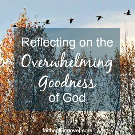 Reflecting on the overwhelming goodness of God