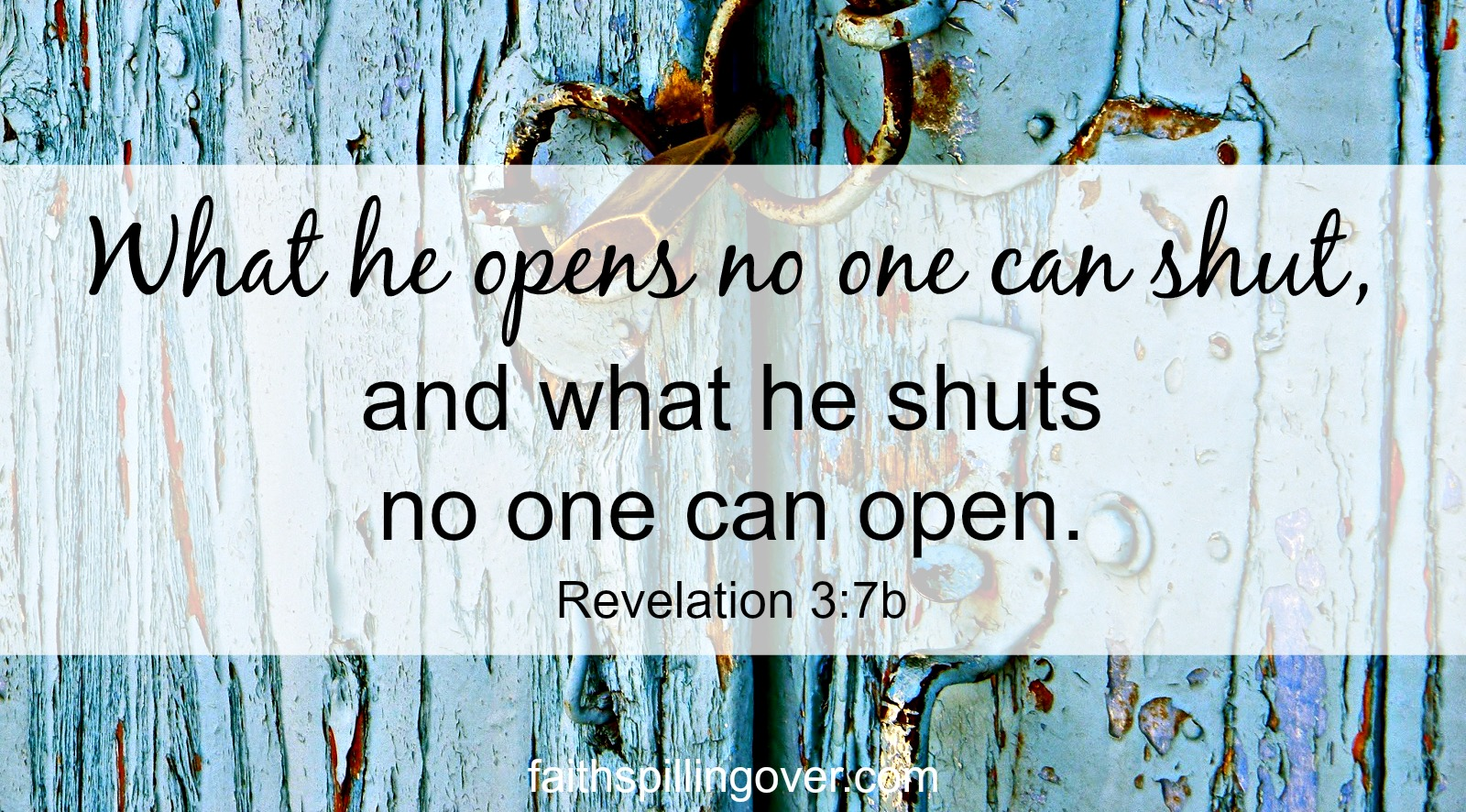 Closed doors disappoint us, but we can always trust God's leading.