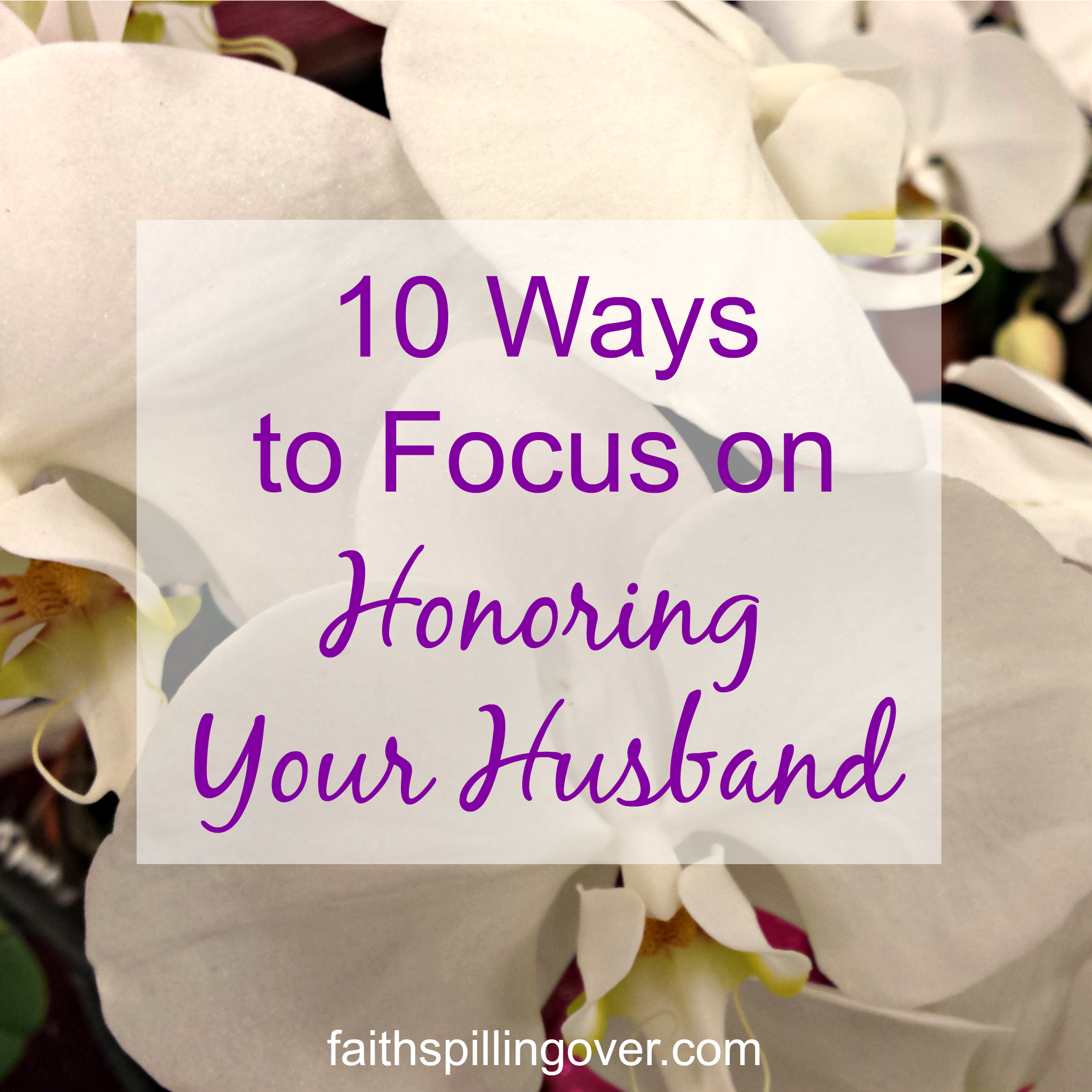 As we take our focus off of ourselves in order to do a better job of honoring our husbands, we reap the rewards of a better relationship.