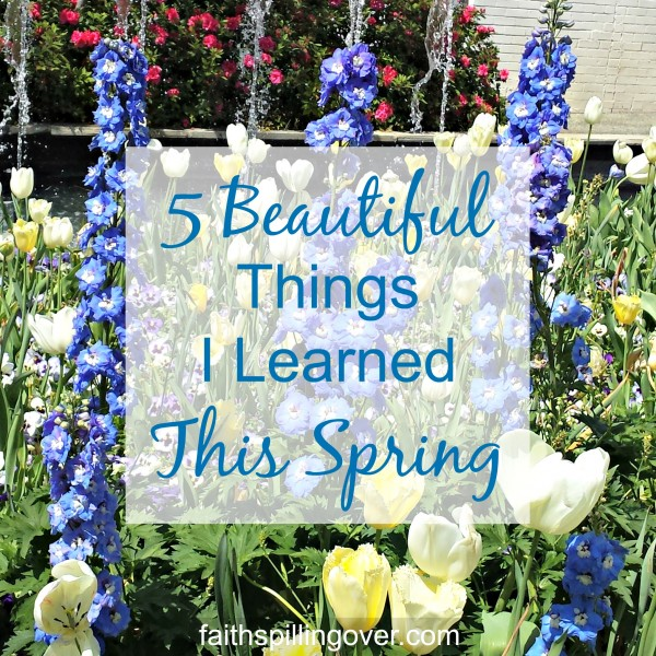 Each day is a 24 hour gift with opportunities to learn and grow. I'm celebrating spring by sharing five things I'm learning make life happier.