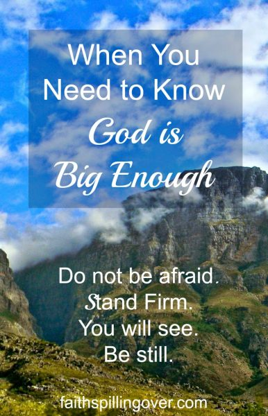 If you're facing a Red Sea Challenge today, remember God is big enough. Don't be afraid. He goes before you. 4 life lessons from the Exodus story.