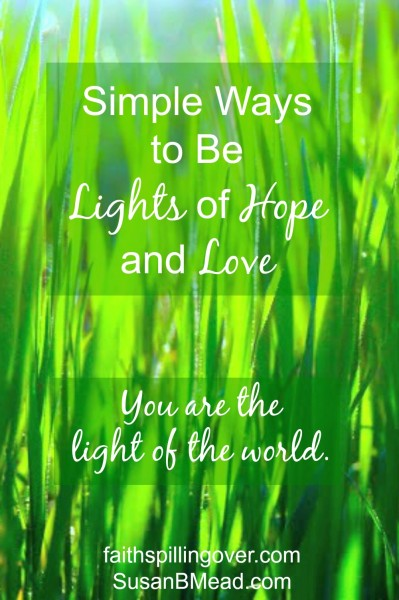 You and I are called to be the light of the world. Here are 6 simple ways to shine for Jesus this week.