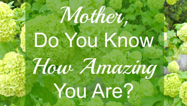 Mother, Do You Know How Amazing You Are?