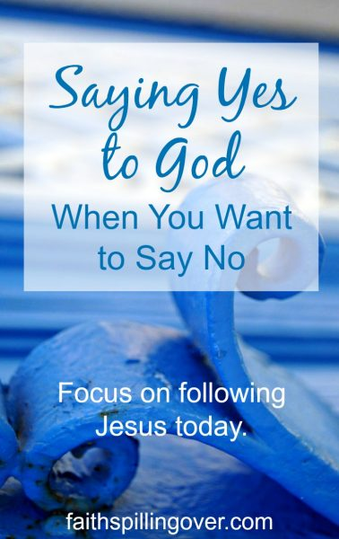 Focus on following Jesus today. Stick close to him. Lean in and listen as you follow His example by loving and serving those around you.