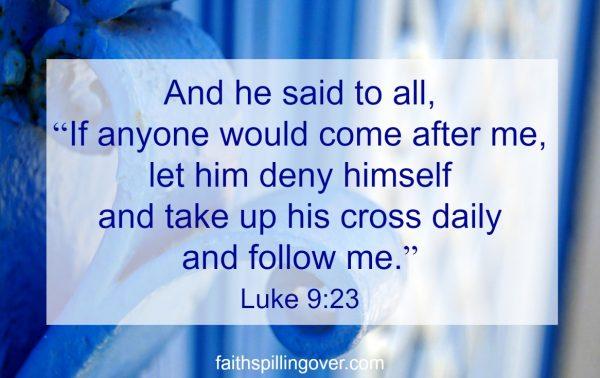 Focus on following scripture