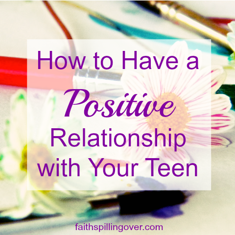 Our teens can drive us crazy, but God can equip us and give us wisdom to build a positive relationship with our teens as they transition into adulthood. 4 tips for parents of teens.
