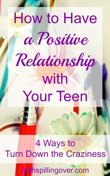 Our teens can drive us crazy, but God can equip us and give us wisdom to build a positive relationship with our teens as they transition into adulthood. Here are 4 tips for parents of teens.