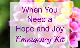When You Need a Hope and Joy Emergency Kit