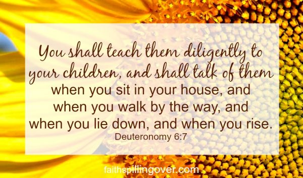 If you want to pass on your faith to your children. Scripture 2