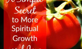 A Simple Secret to More Spiritual Growth and Joy