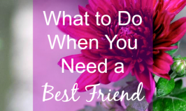 What to Do When You Need a Best Friend
