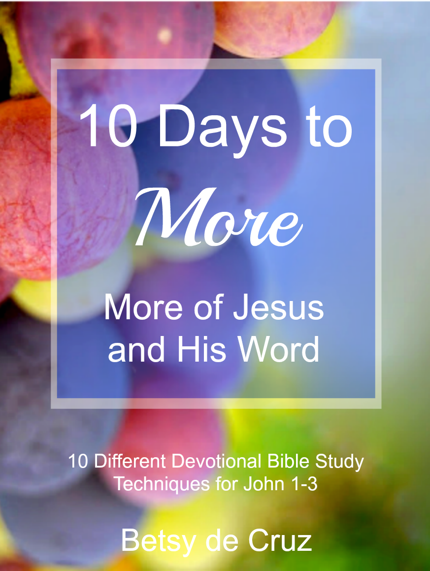 Subscribe to faithspillingover.com to receive 10 Days to More. You'll learn 10 different devotional Bible study techniques.