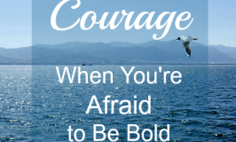 Courage When You're Afraid to Be Bold