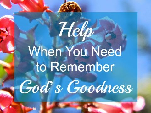 Help When You Need to Remember God's Goodness
