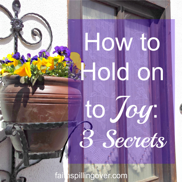 Joy is an important ingredient for a happy life, yet we easily lose it. Here are 3 Secrets to keeping your Joy when life's hassles threaten to get you down.