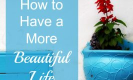 How to Have a More Beautiful Life