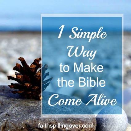 When you try to read the Bible, do you feel like it goes in one ear and out the other? Here's one simple, yet powerful way to make God's Word come alive.