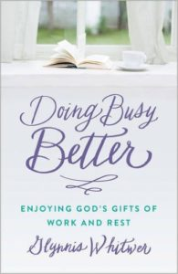 Hurry turns me into someone I don't want to be, but the book #DoingBusyBetter is teaching me how to hit a reset button in my life.