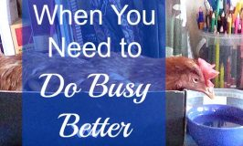 When You Need to Do Busy Better