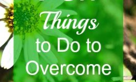10 Good Things to Do to Overcome Depression