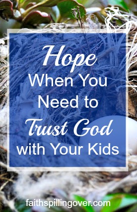 We can trust God with our kids because He's bigger than any challenge they face. As parents, let's choose wisdom over worry and faith over fear.