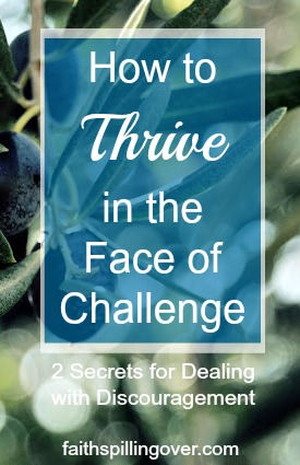 We can learn to thrive in the face of challenge. Discouragement and disappointment are part of life, but these 2 secrets set us up to thrive no matter what.