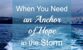 When life brings you a storm, you need an anchor. The #AnchoredInBook will encourage you to take your eyes off your problems and focus on God's power.