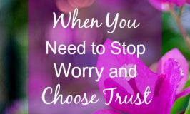 When You Need to Stop Worry and Choose Trust
