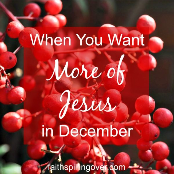 Do you want more Jesus and less Christmas crazy this December? Here's encouragement and practical tips for opening the doors of our hearts and lives to Him.