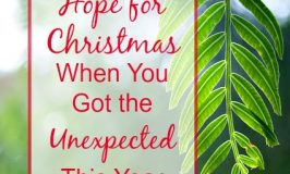 Hope for Christmas When You Got the Unexpected This Year
