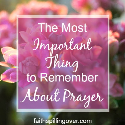 Do you want to grow in your prayer life? Remembering this important first step each time you pray can help your faith grow and help you focus on God.