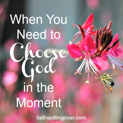 Ever feel anxious or overwhelmed? The book Holy in the Moment offers encouragement to help us let go of negative thoughts and choose God and His truth instead.
