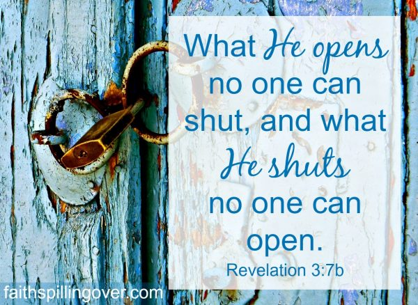 When God closes doors, it's hard to trust Him. Here's 1 truth to help you take heart and 2 things you can do while you wait for Him to open another door.