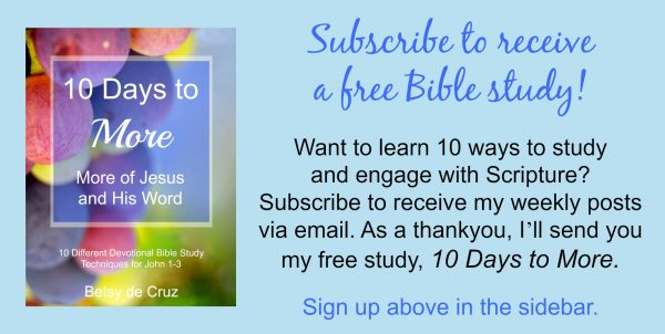Subscribe to faithspillingover.com to receive a free Bible study guide.