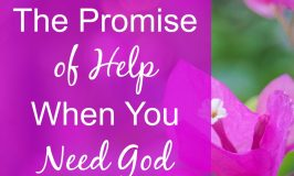 The Promise of Help When You Need God