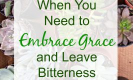 When You Need to Embrace Grace and Leave Bitterness