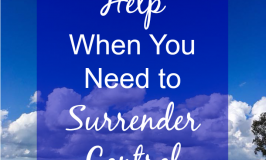 Help When You Need to Surrender Control