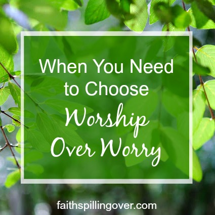 Do you struggle with worry? 4 steps will help you grow your faith and shrink your worries. When we focus on God's power and love, our perspective changes.