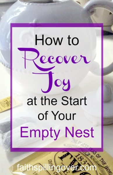 Are you feeling the empty nest blues? These 4 steps and wise words from Ecclesiastes can help you recover a more joyful outlook and see fresh opportunities.