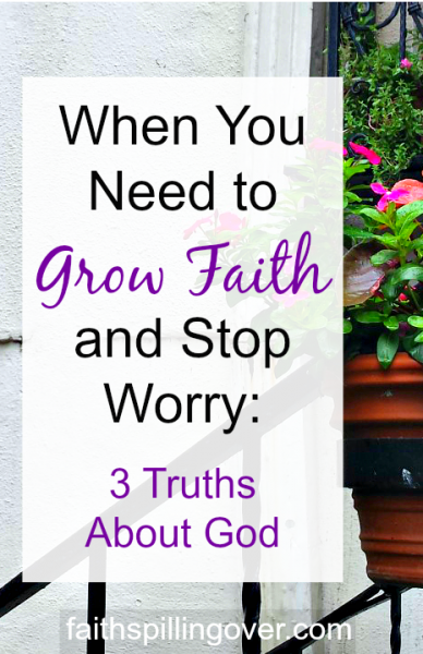 Worried about something? How about turning your focus away from trouble and towards God? These 3 truths about our Heavenly Father will calm your fears.