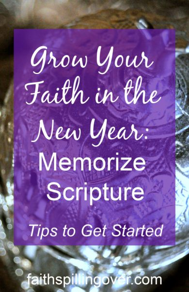 Memorize Scripture to grow your faith and change your life in the New Year. Learn the difference it makes in our lives and tips to get started.