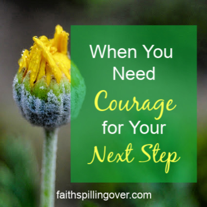 Has God called you to something that scares you? He wants to give you fresh courage for your next step.