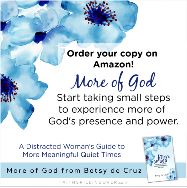 Want to experience more of God's power and presence in your quiet time and all day? Learn how with the book More of God. Available on Amazon.
